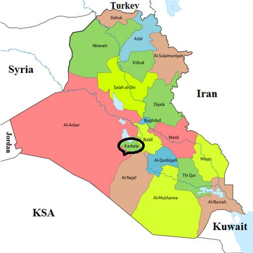 تقشه عراق